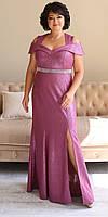 Женское нарядное платье в пол больших размеров 50-56