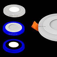 Светодиодный встраиваемый светильник c подсветкой 3W+3W 4100K KWANT