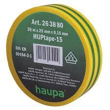 Ізолента 25х20 ПВХ (жовто-зелена) Haupa