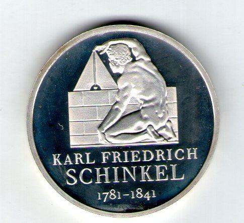Германия 10 евро 2006 «Карл Фридрих Шинкель» Серебро UNC с29