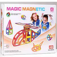 Детский магнитный конструктор Magic Magnetic, от 3 лет, 42 детали