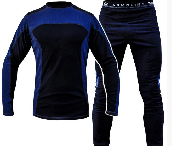 Термобелье (комплект) микрофлис ARMOLINE (BLACK/BLUE)