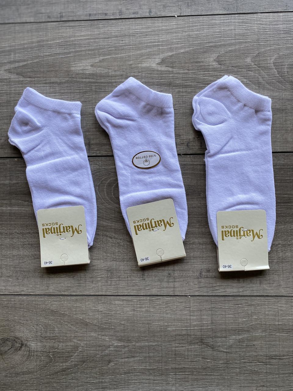 Жіночі шкарпетки короткі патіки котон Marjinal однотонні 35-40 12 шт в уп чорні, бузкові