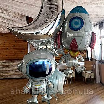Оформление для мальчика с фигурой Космонавт,ракетой, луной и звездами, фото 2