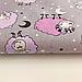 """Польская хлопковая ткань """"Барашки розовые на сером"""", фото 3"""