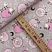 """Польская хлопковая ткань """"Барашки розовые на сером"""", фото 2"""