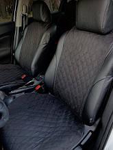 ⭐⭐⭐⭐⭐ Накидки на передние сиденья из Алькантары. Универсальные автомобильные накидки премиум качества! Черный.