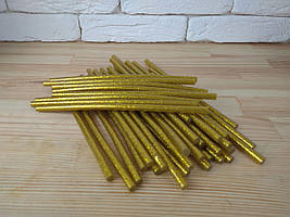 Комплект клеевых стержней с блестками 7мм 18см золотой , силиконовый клей