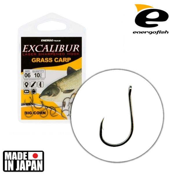 Крючок Excalibur Grass Carp Big Corn NS №10