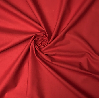 Польская хлопковая ткань красная 160 см