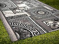 Дорожка ковровая искусственная принт, ширина: # 70;160; 200(1,90) см.