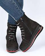 Женские зимние ботинки на платформе Aquamarin 195602, Черный, 36, 2999860351675