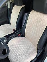 ⭐⭐⭐⭐⭐ Накидки на передние сиденья из Алькантары.Универсальные автомобильные накидки премиум качества! Бежевый.