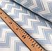 """Турецкая хлопковая ткань ранфорс """"зигзаг голубой на белом с глиттером"""" 240 см, фото 3"""
