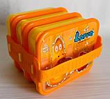 Ланч -бокс контейнер для еды на 3 секции детский, фото 2