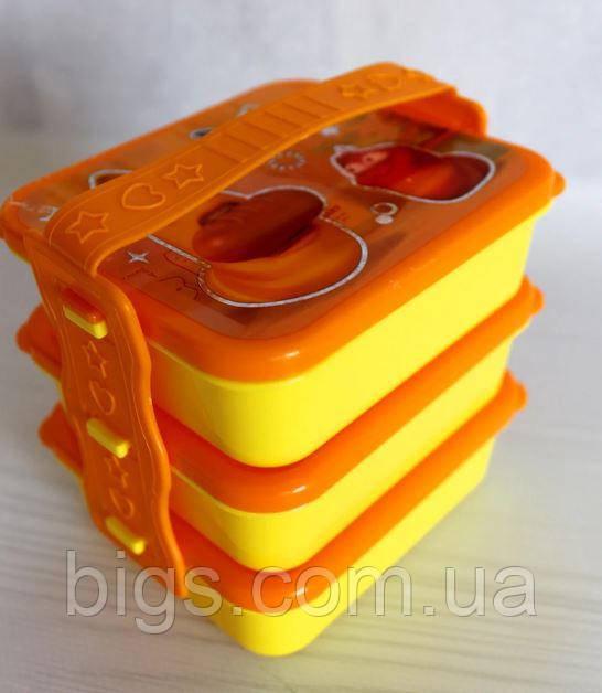 Ланч -бокс контейнер для еды на 3 секции детский