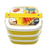 Ланч -бокс контейнер для еды на 3 секции детский, фото 3