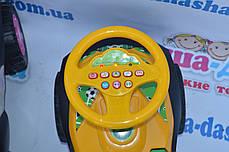 Каталка толокар Автошка, музыкальный руль, ПДД, фото 3