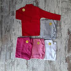 Оптом Детский Однотонный Гольф в Рубчик Девочки 1-4 лет Турция