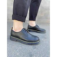 Удобные женские туфли из натуральной кожи черного цвета низкий ход