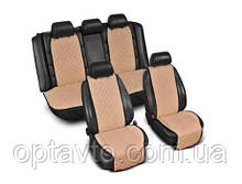 ⭐⭐⭐⭐⭐ Накидки на все сиденья из Алькантары. Универсальные автомобильные накидки премиум качества! Бежевый.