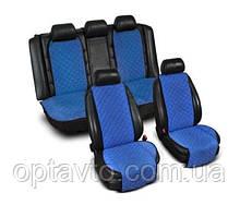 ⭐⭐⭐⭐⭐ Накидки на все сиденья из Алькантары. Универсальные автомобильные накидки премиум качества! Синий.