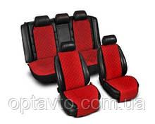 ⭐⭐⭐⭐⭐ Накидки на все сиденья из Алькантары. Универсальные автомобильные накидки премиум качества! Красный