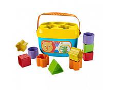 """Ведерко с кубиками """"Первые блоки младенца"""" Фишер Прайс, Fisher-Price Baby's First Blocks"""