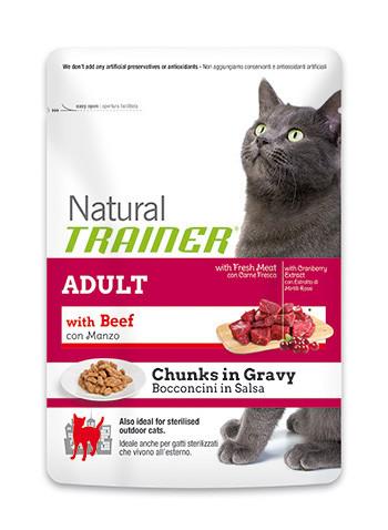 Trainer ADULT With Beef сбалансированный корм для взрослых кошек в возрасте от 1 года 3кг