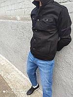Джинсовая куртка мужская черная Турция