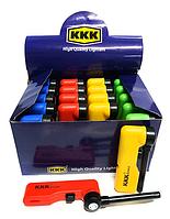 Зажигалка бытовая KKK раскладная цветная (20 шт/уп)