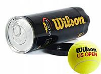 Детские мячи для большого тенниса в банке Wilson US Open, мячики для игр с ракетками, подарок юному теннисисту