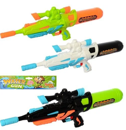 Детский водяной пистолет бластер Water Gun MR0251 с помпой, Игрушечное оружие с баллоном, фото 2