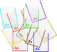Кишеня прозора пластикова формат А4 вертикальна з кантом