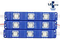 Светодиодный модуль smd 5050 синий 3 диода (color)