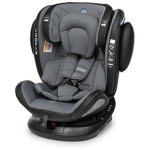 Автомобільне крісло EVOLUTION Isofix 1045 дитяче, автокрісло, ізофікс, поворотне від 0 до 12 років Темно-сірий