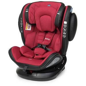 Автомобільне крісло EVOLUTION Isofix 1045 дитяче, автокрісло, ізофікс, поворотне від 0 до 12 років Червоний