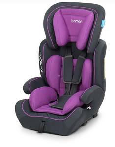 Автомобільне крісло Isofix 4250 дитяче, автокрісло, ізофікс, від 9 до 36 кг, від 1 року до 12 років Фіолетовий