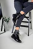 Зимние черные ботинки на шнуровке наплак, фото 9