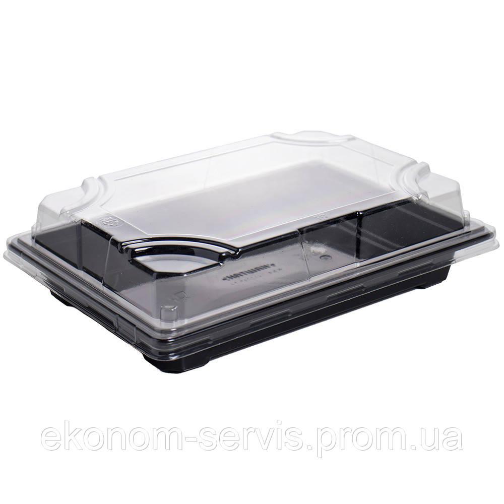 Контейнер пластиковий (для суші) КК-703 з кришкою 18,7*13,3*5 див.