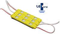Светодиодный модуль smd 5050 желтый 3 диода (color)