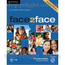 Учебник английского языка Face2face Second edition Pre-intermediate Student's Book with DVD-ROM