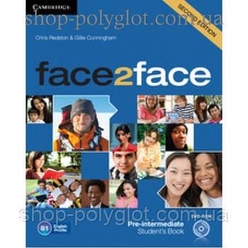 Підручник англійської мови Face2face Second edition Pre-intermediate student's Book with DVD-ROM