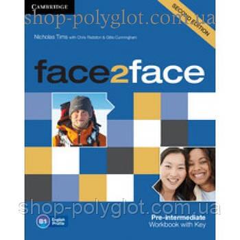 Робочий зошит Face2face Second edition Pre-intermediate Workbook with Key
