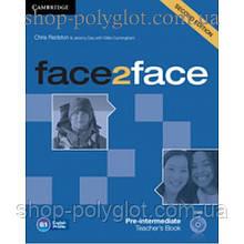 Книга для учителя Face2face Second edition Pre-intermediate Teacher's Book with DVD