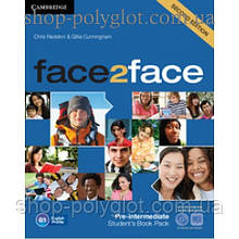 Учебник английского языка Face2face Second edition Pre-intermediate Student's Book with DVD-ROM and Online Workbook Pack
