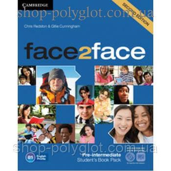 Підручник англійської мови Face2face Second edition Pre-intermediate student's Book with DVD-ROM and Online