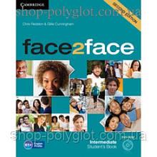 Учебник английского языка Face2face Second edition Intermediate Student's Book with DVD-ROM