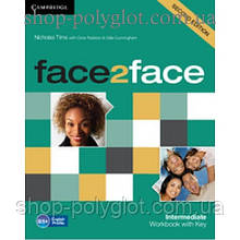 Рабочая тетрадь Face2face Second edition Intermediate Workbook with Key