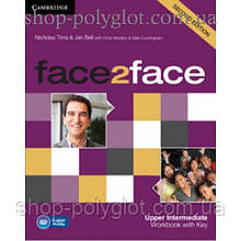 Рабочая тетрадь Face2face Second edition Upper Intermediate Workbook with Key